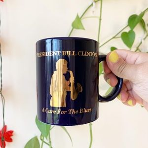 Vintage Bill Clinton mug Cure for the blues